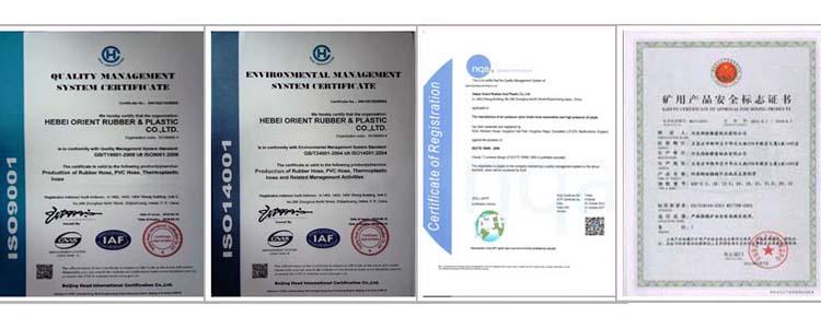 certificate of Air Seeder Hose